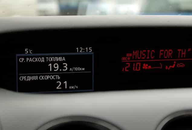 Дисплей маршрутного компьютера Mazda CX-7