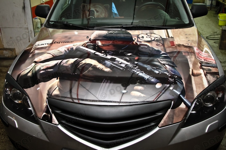 Винилография CS на Mazda 6 2009 года