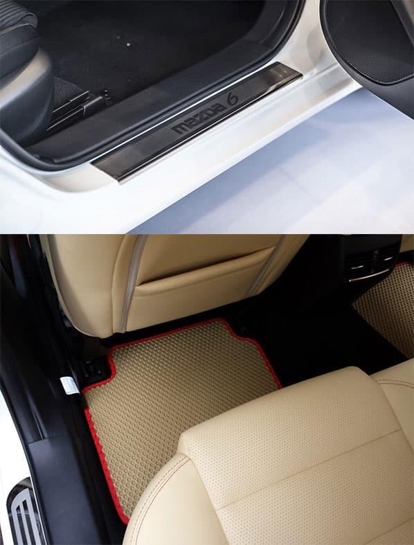 Тюнинг ковриков и накладок Mazda 6 2009 года