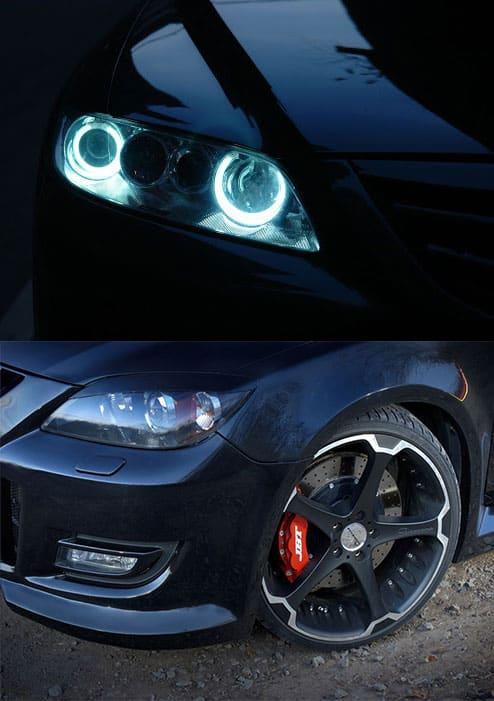 Тюнинг оптики и тормозных дисков Mazda 6 2009 года выпуска