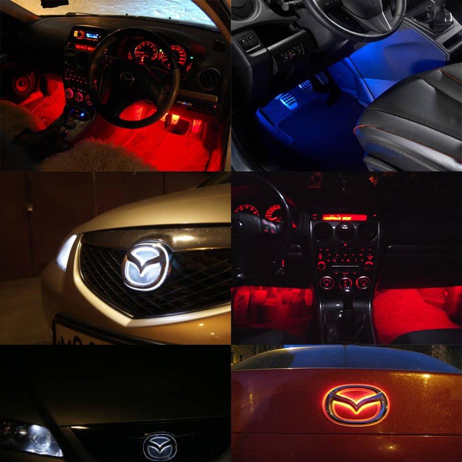 Подсветка салона и эмблемы Mazda 6 2009 года выпуска