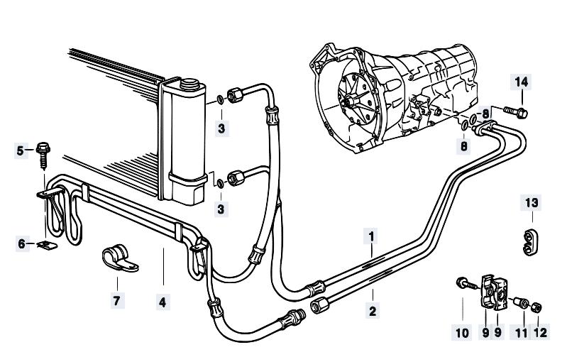 Схема охлаждения АКПП
