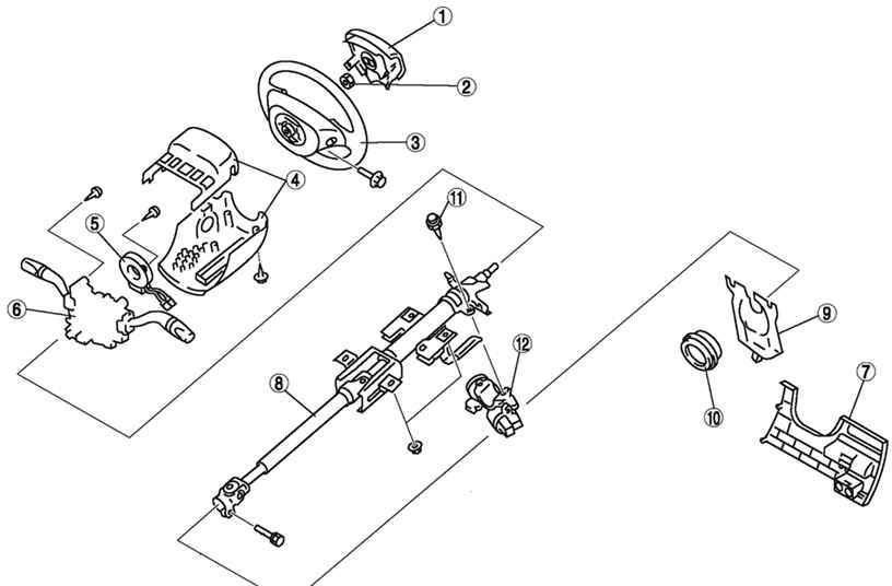 Схема рулевой колонки Mazda 3