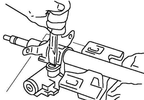 Установка зубилом меток на руле Мазда 3