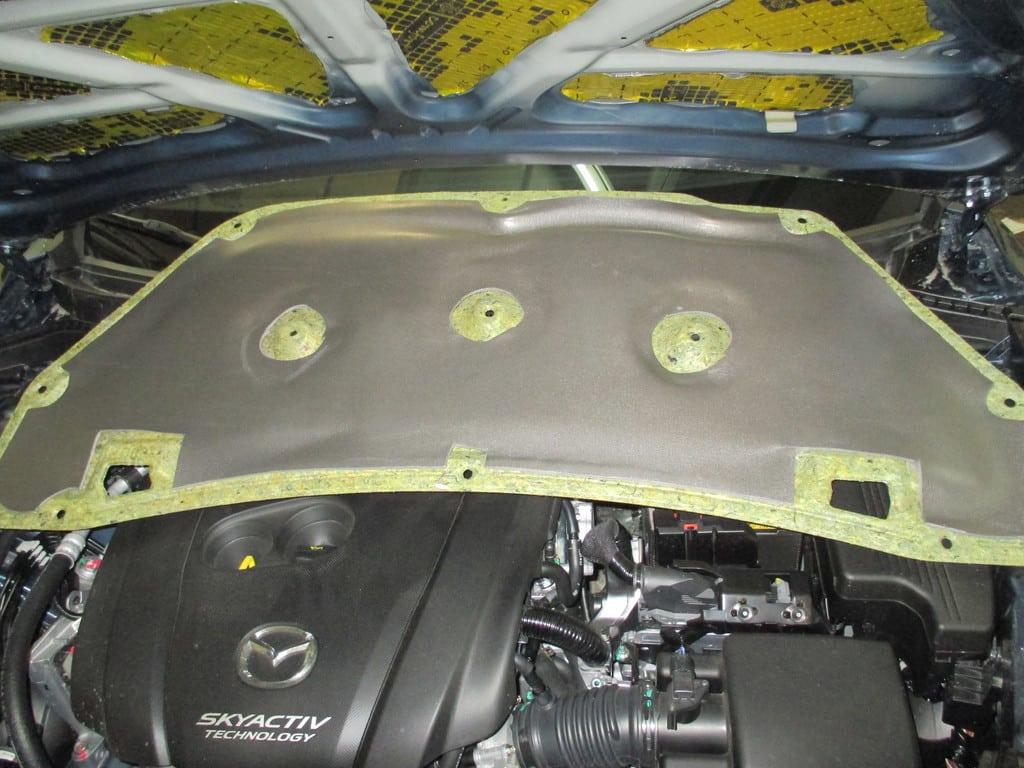 Шумоизоляция капота Mazda CX-5 финальный вариант