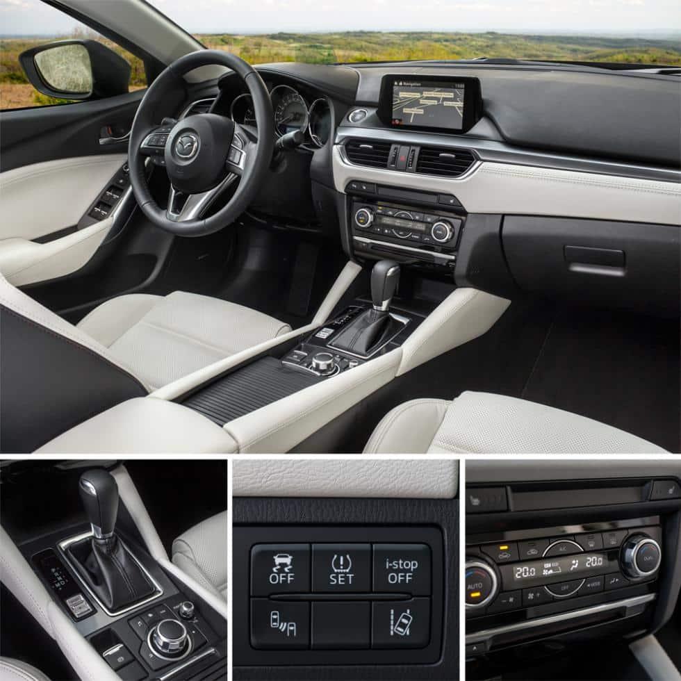 Акценты комфорта Mazda 6 2015 года выпуска