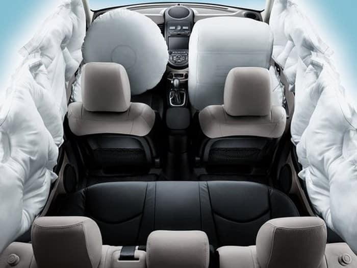 Схема подушек безопасности Mazda CX-7