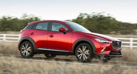 Вид сбоку Mazda CX-3