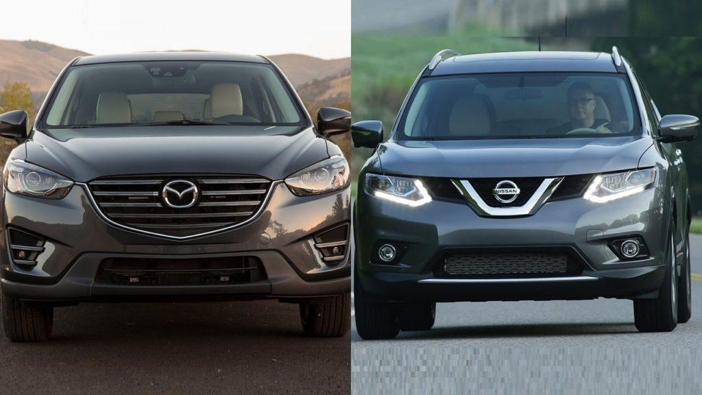 Mazda CX 5 и NissanX-Trail сравнение