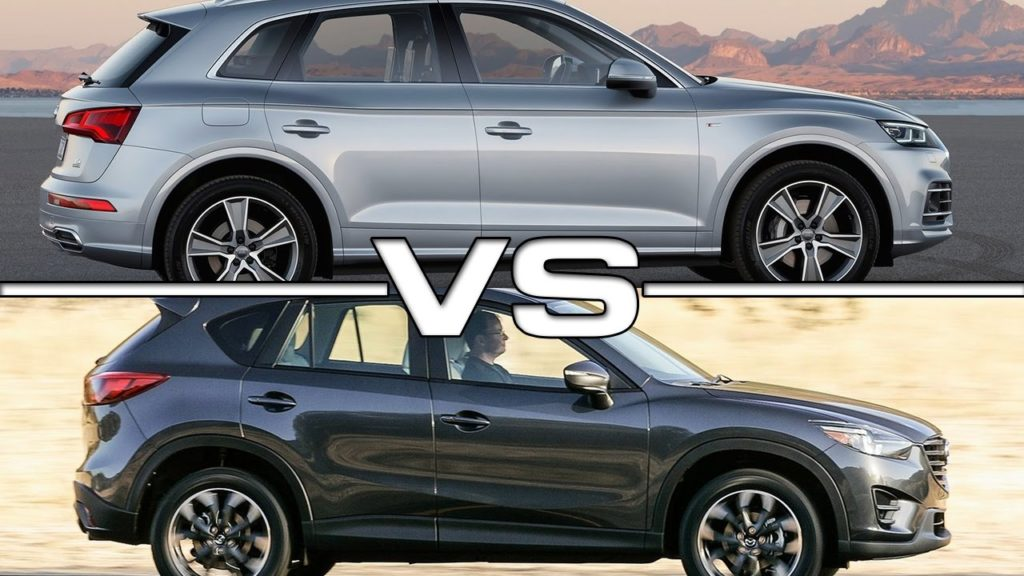 сравнение Audi Q 3/5 и Mazda CX 5