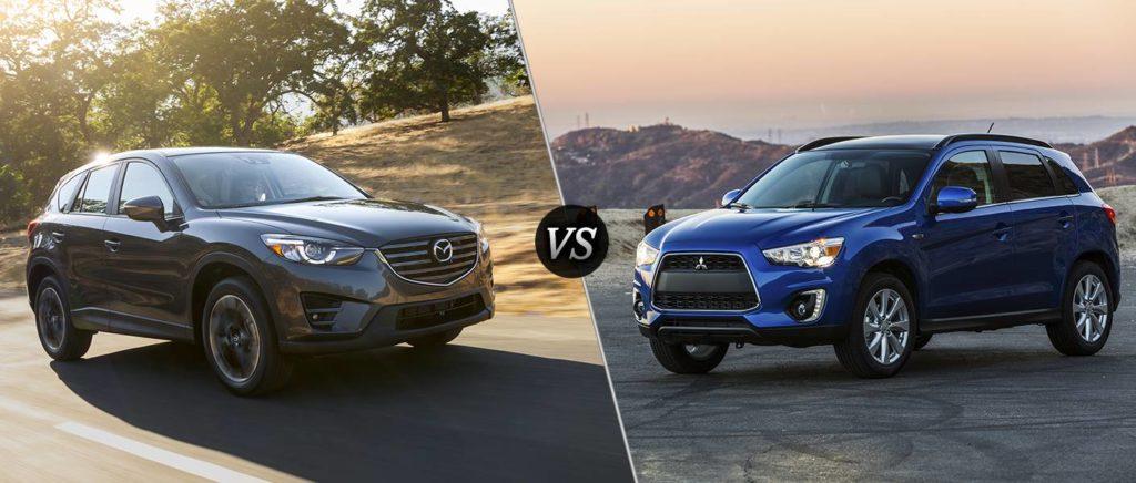Mazda CX 5 и Mitsubishi Outlander