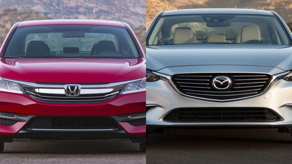 внешность Mazda 6 и Honda Accord