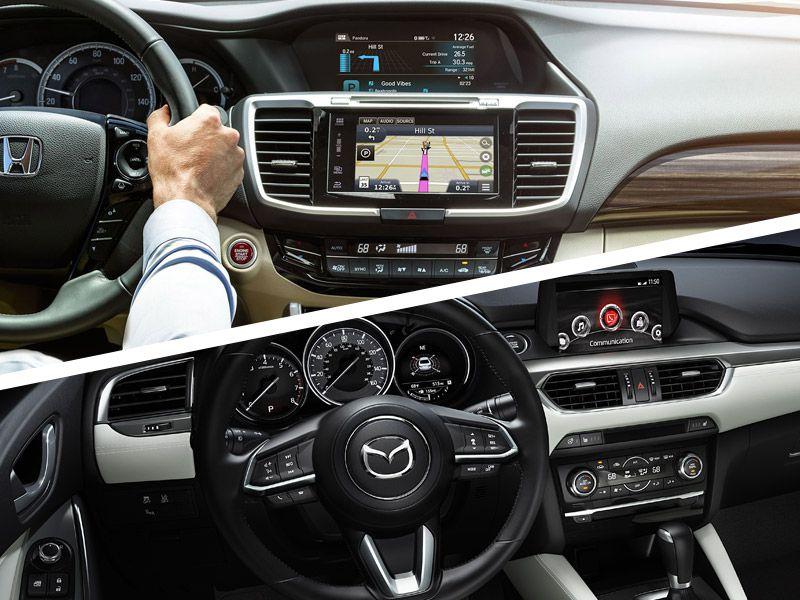 салон Mazda 6 и Honda Accord