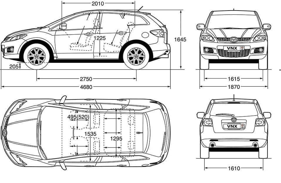 Технические характеристики Mazda CX-7