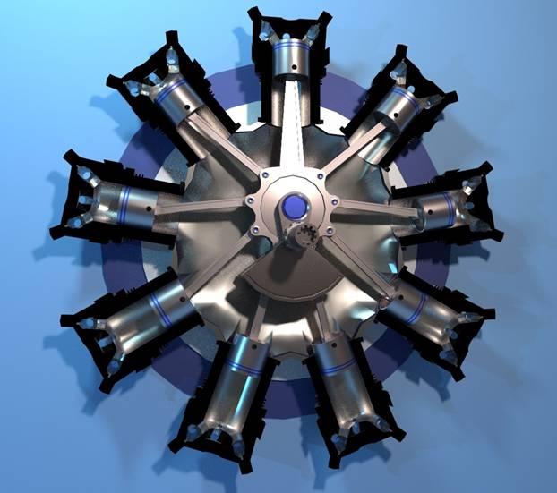 Радиальный двигатель
